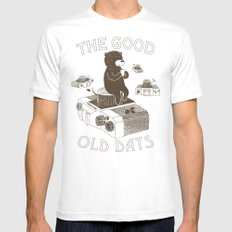 The Good Old Days Mens Fitted Tee MEDIUM White