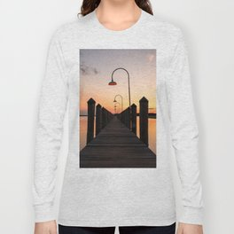 Rusty Rudder Dock Sunset Long Sleeve T-shirt