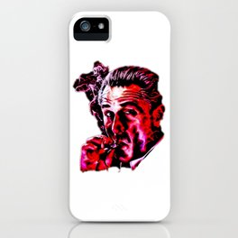 Robert De Niro smoking mafia gangster movie Goodfellas painting iPhone Case