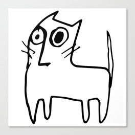 A mangy, miffed and slightly damaged cat Canvas Print