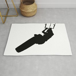 Time To Wake Up Kiteboarder Silhouette Rug