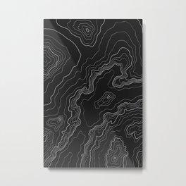Black & White Topography map Metal Print