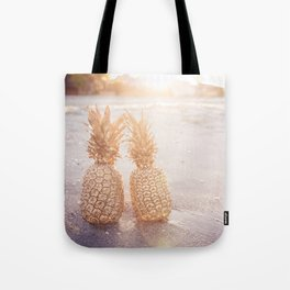 Golden Pineapples Tote Bag