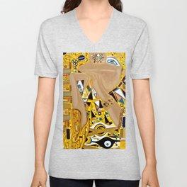 Ode to Klimt - Detail Portrait of Adele Unisex V-Neck