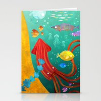 underwater Stationery Cards featuring Underwater by Brianne Burnell