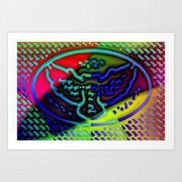 Moment of owl ... Art Print
