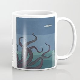 Jules Verne's Twenty Thousand Leagues Under the Sea - Minimalist literary design, literary gift Coffee Mug
