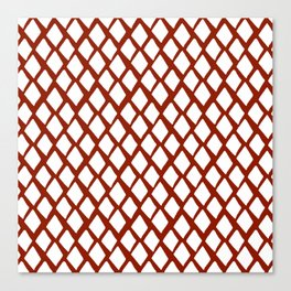 Rhombus White And Red Canvas Print