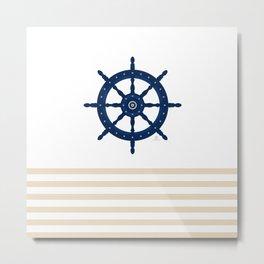 AFE Sapphire  Blue Helm Wheel Metal Print