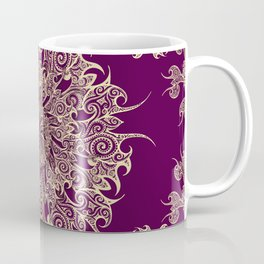 Oriental Tattoo Mandala gold on magenta Coffee Mug