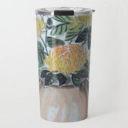 Chrysanthemum Flowers In The Vase Travel Mug