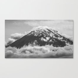 Volcano Misti in Arequipa Peru Covered by Clouds Canvas Print