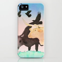 Cows and Crows iPhone Case