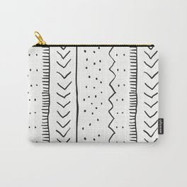 Moroccan Stripe in Cream and Black Carry-All Pouch