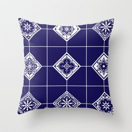 Talavera Mexican Tile – Porcelain Palette Throw Pillow