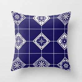 Talavera Mexican Tile – Porcelain Palette Throw Pillow