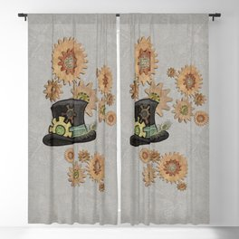 Steam Sass Steampunk Mixed Media Blackout Curtain