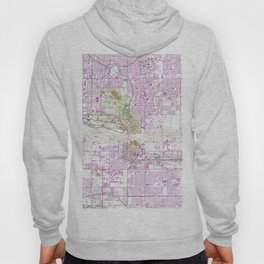 Vintage Map of Tempe Arizona (1952) Hoody
