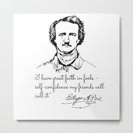 Edgar Allan Poe, Marginalia Metal Print