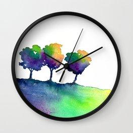 Hue Tree Trio Wall Clock