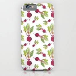 Feel the Beet in Radish White iPhone Case
