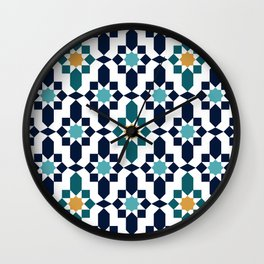 Moroccan style pattern Wall Clock