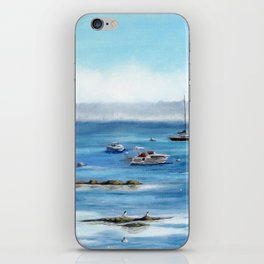 Boats Bobbing on Belfast Bay iPhone Skin