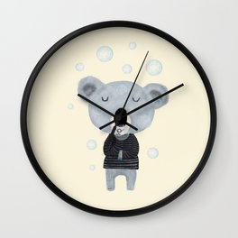 koala bubbles Wall Clock