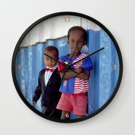 Overdressed In Zanzibar Wall Clock
