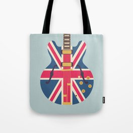 Union Jack Flag Guitar - Slate Tote Bag
