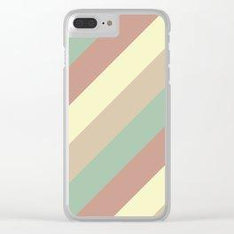 Natural Diagonal Stripe Pattern Clear iPhone Case