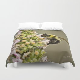 A Bumble Bee Working Duvet Cover