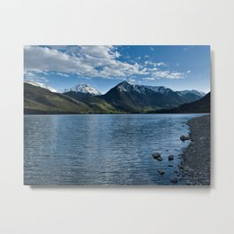 Sunset over Twin Lakes Metal Print