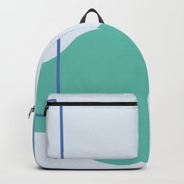Silence is deadly - on blue background Backpack