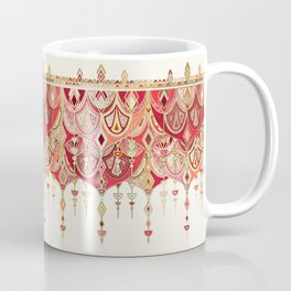 Royal Red Art Deco Double Drop Coffee Mug