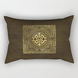 Gold Sri Yantra  / Sri Chakra Rectangular Pillow
