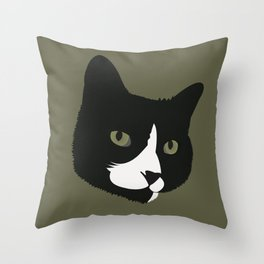 Boots the Kitty Cat Throw Pillow
