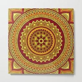 Hippie mandala 78 Metal Print