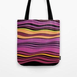 POPTART - bright layers of pink orange black stripes Tote Bag