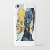 sasuke iPhone & iPod Cases featuring Naruto & Sasuke  by Aileen