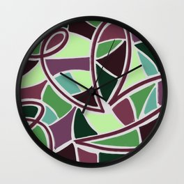 Under the Canopy - Abstract Tropical Jungle Illustration Wall Clock