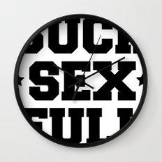 Suck sex full Wall Clock
