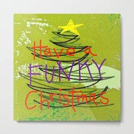 Funky Christmas Metal Print