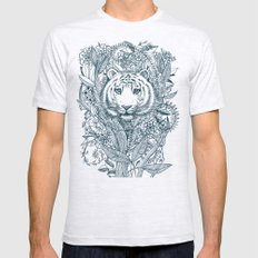 Tiger Tangle Ash Grey X-LARGE Mens Fitted Tee