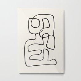 Abstract line art 15 Metal Print