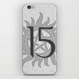 SPN Print (Grey) iPhone Skin