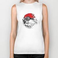 pokeball Biker Tanks featuring POKEBALL by Smart Friend