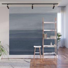 Touching Indigo Blue Watercolor Abstract #1 #painting #decor #art #society6 Wall Mural