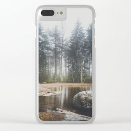 Moody mornings Clear iPhone Case