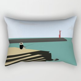 Island Fishing Rectangular Pillow
